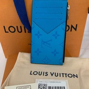💙BRAND NEW LV COIN CARDHOLDER IN TAIGARMA BLEU